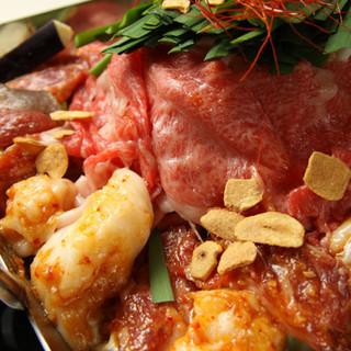 たっぷりの野菜と肉が食べられる『ちりとり鍋味噌ベース1人前』