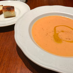 カッフェ・クラシカ - ヨーグルトとトマトの冷製スープ   爽やかです(^O^)