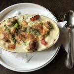 ポテト料理専門店 穀物祭 - アスパラと帆立のグラタンです。