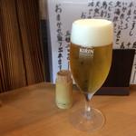 片町 弥ひろ - 我慢出来ずビール‼️