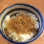 片町 弥ひろ - ジャコご飯、小(⌒▽⌒)       お代わりできますよ