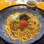 洋麺屋 五右衛門 - 明太子と高菜の博多風(972円)