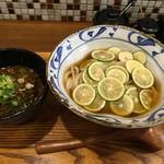 70822185 - 冷やしスダチうどん&ミニ小屋カレー丼