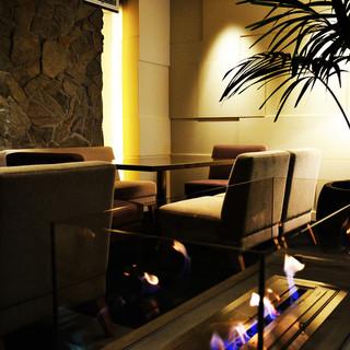 【リゾート空間で大人気】オシャレな空間で素敵な飲み会を演出♪