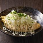 蕎麦処 まち庵 - おすすめの納豆オムレツ!
