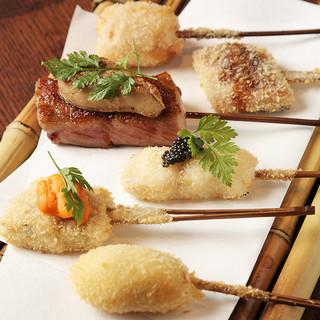 《北新地駅徒歩3分》日本の最高品質を大阪の食文化の串にのせて