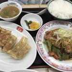 餃子の王将 - 油淋鶏+ライスセットA
