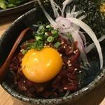 70828946 - 桜肉のユッケ