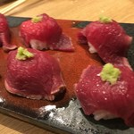 70828979 - 桜肉の肉寿司