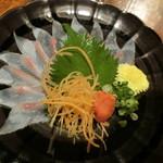 横浜すきずき - 「石鯛薄造り」450円