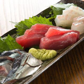 毎朝築地から直送!!旬の鮮魚をご賞味あれ!!