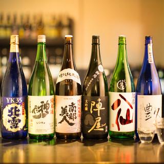 【日本酒にこだわり】厳選した全20種!500円(税抜)~
