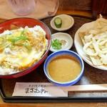 まさむね - 2017年7月 カツ丼+ごまダレうどんミニ【950円+350円】