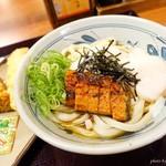 香の川製麺 - 料理写真:2017年7月 うなとろ玉ぶっかけうどん【590円】ん?入口の写真と違うような…(´Д`)