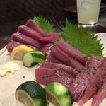 がしら亭 - 料理写真:カツオ刺身&新子の刺身