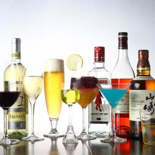 カクテルやワインなど、ドリンクが種類豊富にそろっています