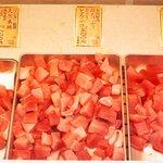 まぐろ 藤田 - 冷蔵ストッカー内の「ブツ」