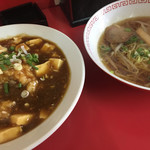 長興 - 麻婆丼☆★★☆ミニ麺 らーめん(*´-`)