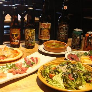 ★5月限定‼お得なコース★クラフトビール3種類付飲み放題!★