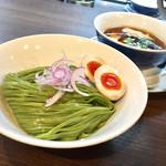 70842024 - 醤油つけ麺 翡翠麺ver. 味玉TP