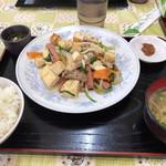 くになか食堂 - 豆腐チャンプル定食