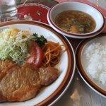 レストランデリス - 料理写真:日替わりランチ 豚ロースショーガ焼