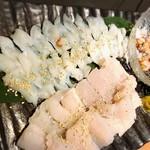 ひめいちえ - 夏の旬魚、活きダコと鱧のしゃぶしゃぶ