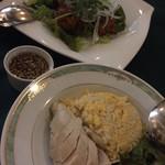 カフェ・トリアノン - 鶏のパクチー唐揚げとカオマンガイ