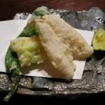 蕎麦 惠土 - キスの天ぷら