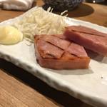 徳田酒店 - ハムステーキ ハーフ