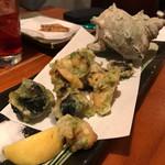 魚哲 - サザエ天ぷら
