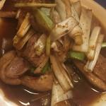 鴨料理 呂尚 - 鴨ねぎ炒め