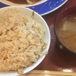 鴨料理 呂尚 - ランチの炊き込みご飯