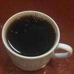 鴨料理 呂尚 - 溢れそうなコーヒー