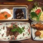 洋食 Matsushita - 松下弁当1400円+800円で黒毛和牛ロースの網焼き