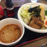 市川商店 - つけ麺並盛+野菜大盛り(7倍)
