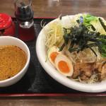 市川商店 - つけ麺並盛+野菜大盛り(10倍)
