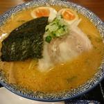 實 - 味噌ラーメン(750円)+煮玉子(100円)