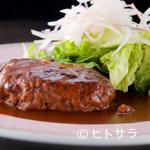 牛たん炭焼き 利久 - 牛たんハンバーグ定食