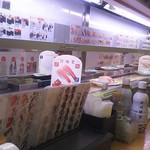 かっぱ寿司 - レーン上に最初は海老が流れていたが…(2017.07.31)