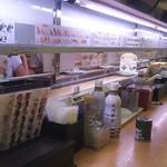 かっぱ寿司 - 次第にメニューと空っぽの皿しか流れなくなり…(2017.07.31)