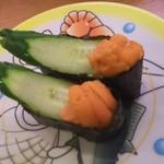 かっぱ寿司 - うに 税込108円(2017.07.31)