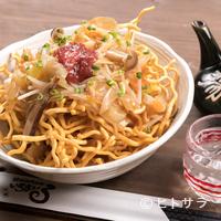 いちまいる - 食感の違いも面白い『パリパリ沖縄そば麺の梅肉きのこあんかけ』