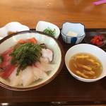 しらさ - 海鮮丼定食(¥1500)