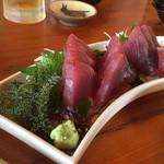 うちなーの味 石なぐ - カツオ刺身 海ぶどう付き♪