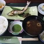 だるまや - 鮎の塩焼き定食1400円