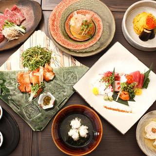 旬味覚に舌鼓を打つ和料理コース