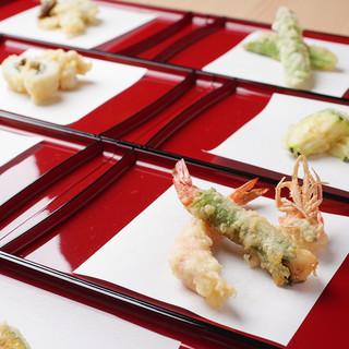 旬の天ぷら定食(2,300円)ランチタイムにどうぞ!