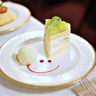 五感 北浜本館 - 完熟メロンのショートケーキ