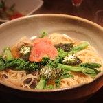 KARON - 菜の花と明太子のスープパスタ